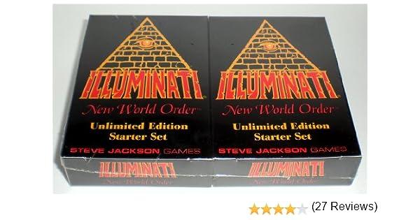 1995 - Nuevo Orden Mundial Illuminati juego de cartas coleccionables - (INWO Unlimited Edition Starter Set) sellada de la f?brica (CCG) Two Double Decks 55 tarjetas de cada libro de reglas INWO (