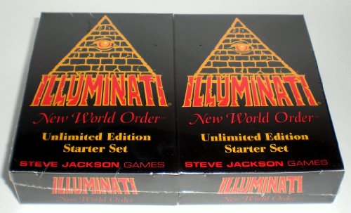 Illuminati New World Order Card Game Unlimited Edition Starter set Second Printing with colored Titles by Steve Jackson 1994-1995 by Steve Jackson Games