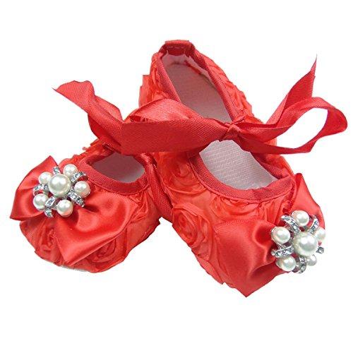 Süße 3D Baby Ballerina in weiß, rosa oder rot Gr. 16,17,18,19 (16) Rot