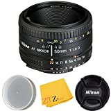 Nikon AF FX NIKKOR 50mm f/1.8D Lens (Certified Refurbished) (Cloth Only)