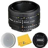 Nikon AF FX NIKKOR 50mm f/1.8D Lens (Certified Refurbished) (Cloth Only)