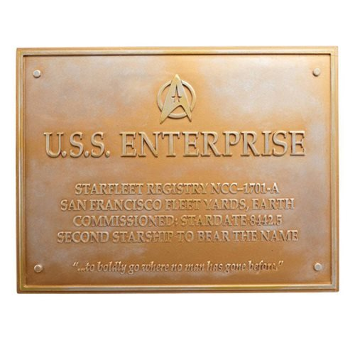 Diamond Comic Dist--England Star Trek Dedication Plaque 3...