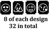 Tattoo Stencil Collections (32 Tattoo Glitter Airbrush Stencil Emoji c1)