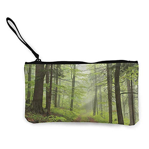 Pencil Bag Outdoor,Trail Trough Foggy Alders W8.5