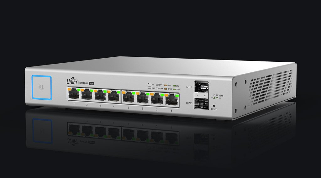 Ubiquiti Networks US-8-150W Managed Gigabit Ethernet (10/100/1000) Power Over Ethernet (PoE) White Network Switch by Ubiquiti Networks