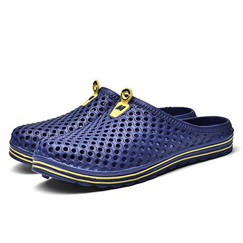 Zuecos Zapatillas Zapatos Sandalias Verano De Playa Azul Oscuro Ahueca Jardín Unisex TqwdFT