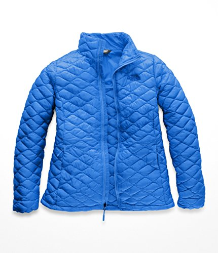 Jacket Bomber Quilted Nylon (The North Face Women Thermoball Full Zip - Bomber Blue Matte - XS)