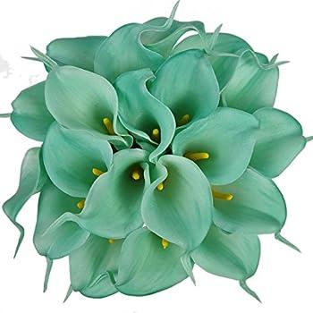 Amazon.com: SMYLLS Calla Lily Bridal Wedding Bouquets with Latex ...