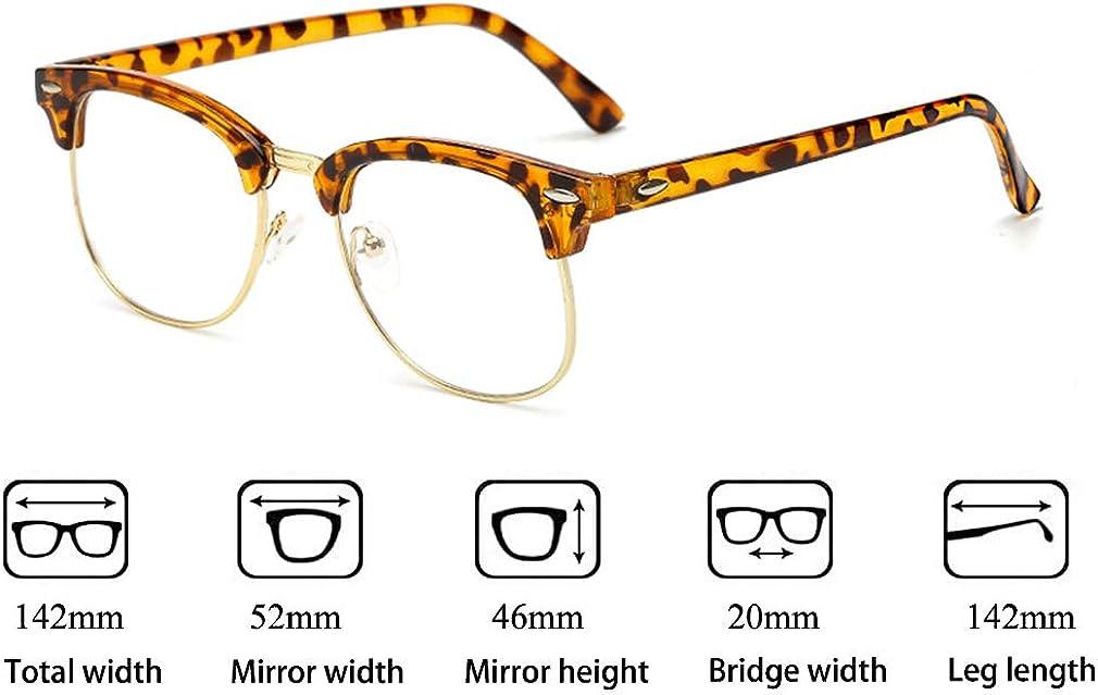Klare Linse Brillengestell 18082311 Mode Brillen Eyewear Hibote M/änner Frauen Brille