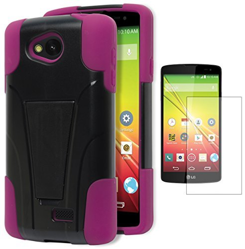 LG Tribute Case LS660 / LG Optimus F60 Case, Bastex (Virgin Mobile,Sprint Prepaid) Premium Durable Rugged Shell Hybrid Protective Phone Case Cover with Kickstand - PinkINCLUDES SCREEN PROTECTOR