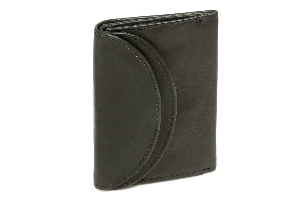 Cartera pequeña para señores Monedero para señoras LEAS, Piel auténtica, negro - ''LEAS Mini-Edition'' LE1435-01-01