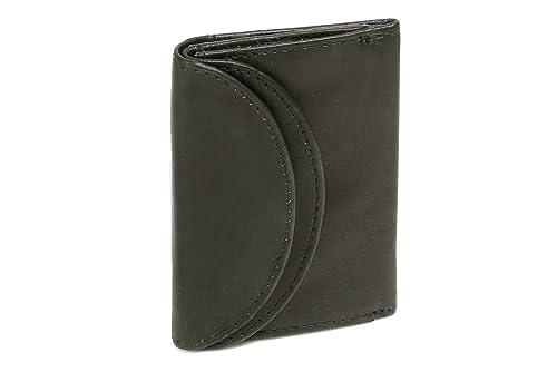 Portafoglio piccolo LEAS, Vera Pelle, nero - ''LEAS Mini-Edition'
