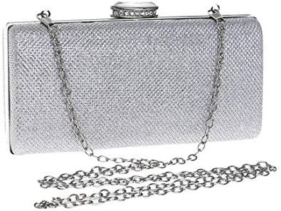スパンコールのイブニングドレスドレスクラッチ、レディース財布、18 * 9 * 5 Cm(カラー:シルバー) 美しいファッション (Color : Silver)