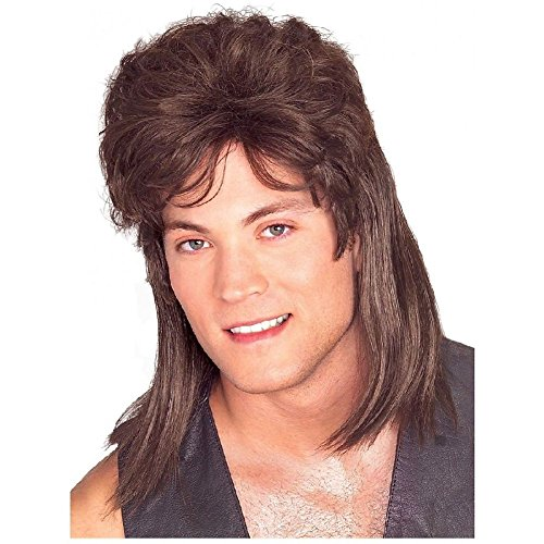 Costumes Hillbilly Sexy (Mullet Wig Adult Mens Trailer Trash Redneck Hillbilly Funny Costume)