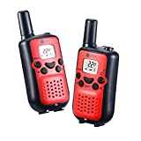 Walkie talkies for kids J-TOO Easy to use 22 Channel FRS/GMRS Two Way Radio 5 Mile Rang 2 Pack (Red)