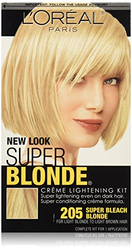 L'Oreal Paris Super Blonde Crme Lightening Kit, 205 Light Brown To Light Blonde
