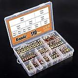Keadic 110Pcs [ 11 Size ] 7mm to 17mm Spring Hose