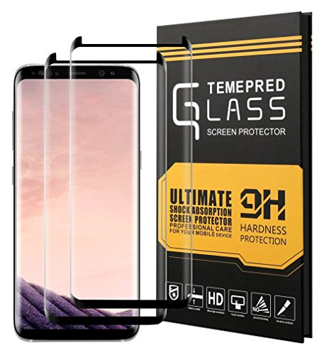 XUZOU 9H Hardness Case Friendly Anti-Scratch Anti-Fingerprint Bubble Free Liwin Tempered Glass Screen Protector for Samsung Galaxy S8 Plus - 2 Piece