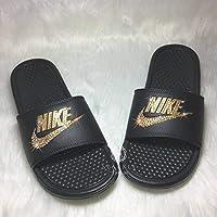 45d4fd202a15 Nike Blinged Out Slides for Women - Bling Swarovski Bedazzled Kicks - NIKE  Benassi JDI Slides