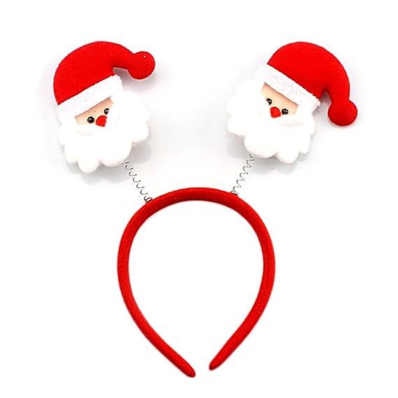 Vococal® Venda del Pelo de Navidad,6 Piezas Santa Claus de Navidad Diadema Bandas de Cabello para Decoración Navideña: Amazon.es: Ropa y accesorios
