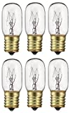 bulb e17 - Pack Of 6 40-Watt T8 Tubular Indicator Intermediate (E17) Base 40T8 Incandescen Light Bulb