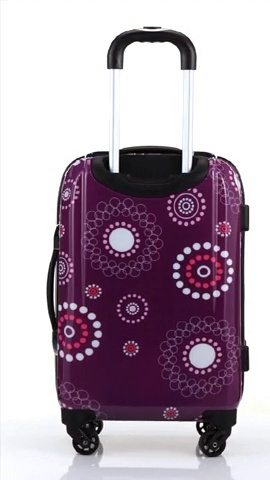 Rockland Vision Hardside Spinner Wheel Luggage, Purple Pearl, Carry-On 20-Inch