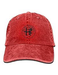 Alfa Romeo Circle EuroUnisex Washed Cotton Low Profile Adjustable Baseball Cap