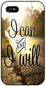 I can and I will - Road - Bible verse iPhone 4 / 4s black plastic case / Christian Verses