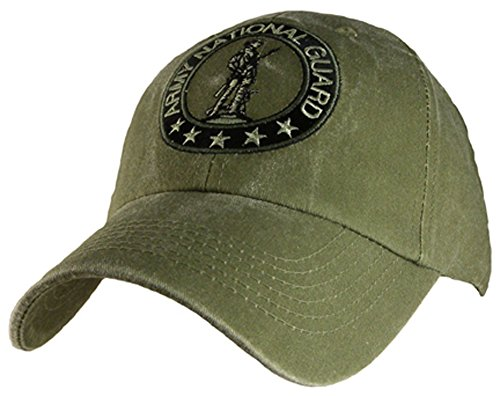 - Eagle Crest Army National Guard Baseball cap hat, Green, One Size