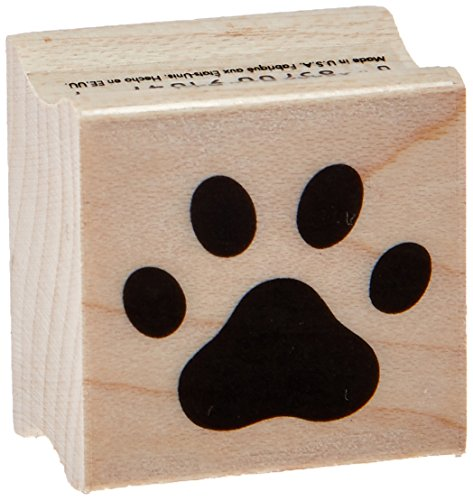 Hero Arts A6220 Paw Print Red Rubber Wood (Dog Paw Print Stamp)