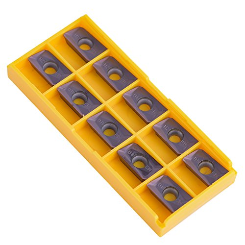 10pcs Parallelogram Shape CNC Carbide Insert Cutter Indexable Lathe Milling Inserts Turning Tools with Box APMT1604PDER-M2 VP15TF for Regular Steel by Walfront