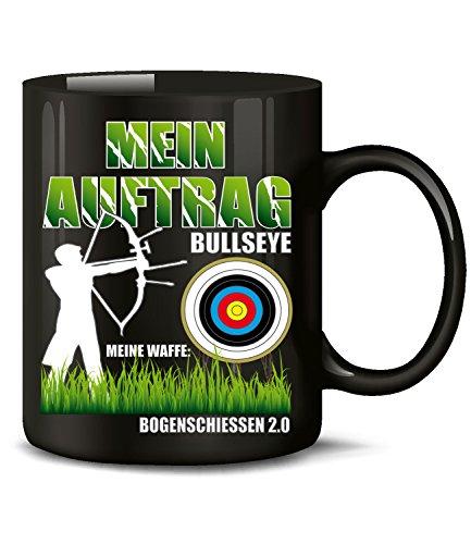 MEIN AUFTRAG BULLSEYE MEINE WAFFE Bogenschiessen 2.0 1048(Schwarz)