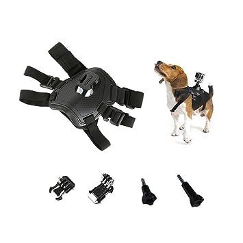 Mascota Perro nueva Fetch Arnés Ajustable Cinturón de pecho Cinturón Monte Para Cámara GoPro Hero 4
