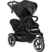 phil&teds Sport Stroller with Doubles Kit, Black