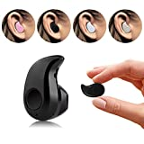Bluetooth Headphones Wireless Invisible Mini Earphone Earbud Support Hands-free Calling For iPhone iPad Samsung Xiaomi Sony Lenovo HTC LG and Most Smartphones (Black)