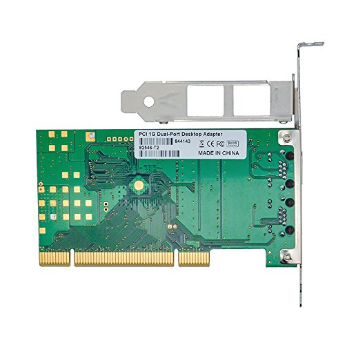 Jeirdus for Intel Chipset 82546 Dual Port Gigabit 8492MT PCI Server Network Card 1000M RJ45 NIC Ethernet Desktop Adapter by Jeirdus (Image #2)