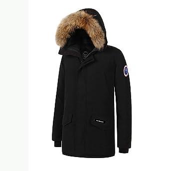 SRL Mens Grueso Invierno cálido Pato Abajo Grueso Abrigo de ...
