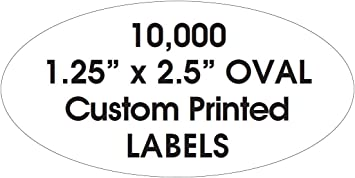 """250 Custom 2.5/"""" x 4/"""" Rectangle Business Stickers 1-Color Ink Printed Labels"""