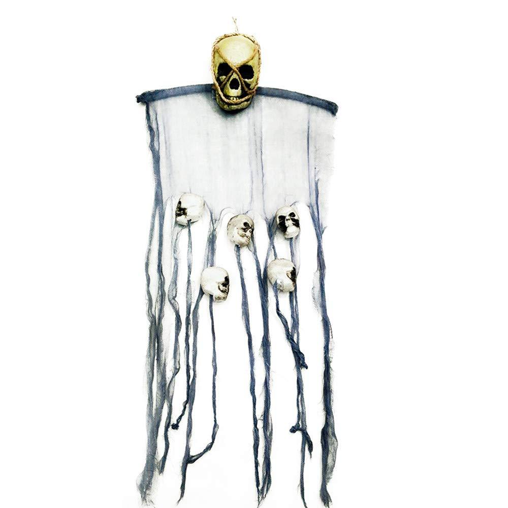 SHINEHUA Halloween deko Gespenst Geist Gruselig H/ängend T/ürvorhang f/ür Halloween T/ür Deko Gruseligste Dekoration zu Halloween