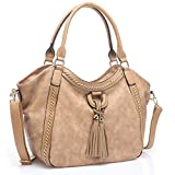 UTAKE Women Handbags Leather Handbags Shoulder Bag PU Leather Bag Large Tote Bag UT59 Apricot