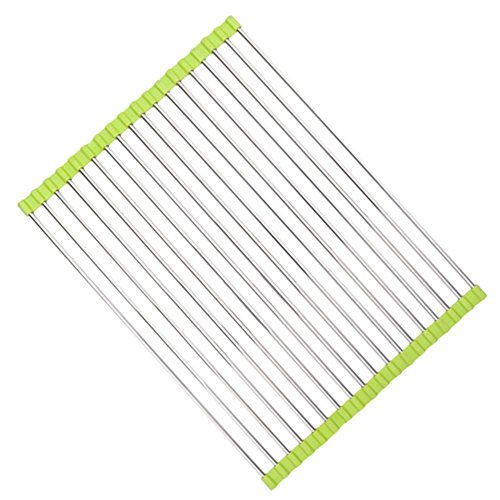 Stainless Steel Roll Up Dish Drying Rack,Leereal Kitchen Fol