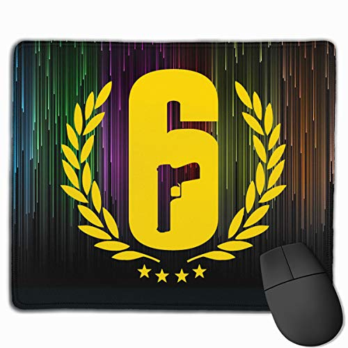 Joy R Daniels Rainbow Six Siege Gaming Work Mouse Pad with Stitched Edges for Non-Slip Gaming Thick Rubber Mouse Mat 10