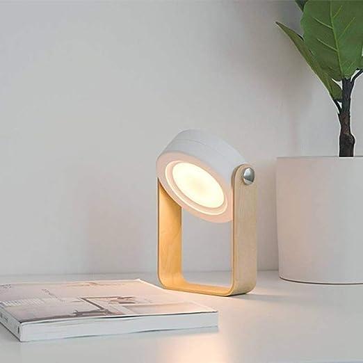 Wapipey Lámpara de mesa operada con luz nocturna al aire ...