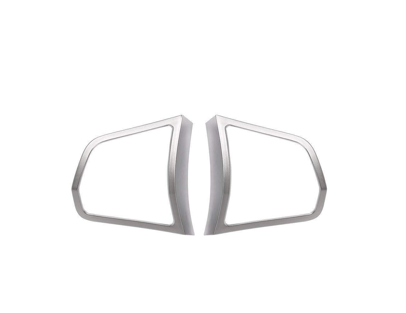 Interior Auto Fahrzeug Zubehö r, fü r 5 7 Series f10 520 525 2011-2017, Lenkrad Knopfleiste Trim ABS Verchromung Silber, 2 Stü ck/Satz ACCEMOD