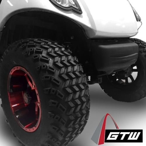 Golf Cart 12'' ''Diesel'' Machined and Black Wheel and 23 x 10.5-12 Golf Cart (6-PLY) ''X-Trail'' All Terrain Tire Combo- -+ GTW Quality Lift Kit Option ((2000.5+) EZGO TXT, Lift Kit) by Golf Cart King (Image #4)