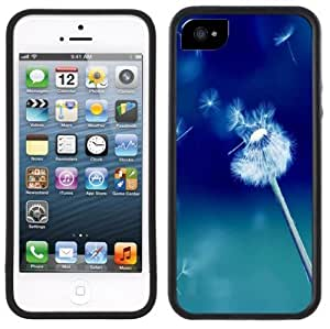 Dandelion Wishing Flower Handmade iPhone 5 5S Black Case