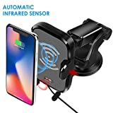 Wireless Car Charger, Automatic Induction Wireless Charger Car Mount Air Vent Holder Fast Charging for Samsung Galaxy S9 S9 Plus S8 S7/S7 Edge Note 8 Standard Charge for iPhone X 8/8 Plus & Other Qi E