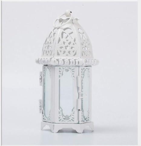 DadaAA - Mini Farol marroquí Decorativo, portavelas de Cristal para Interior y jardín: Amazon.es: Hogar