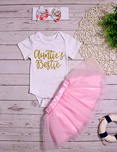 25a35d2863ad 3Pcs Newborn Infant Baby Girl Clothes Summer Outfits Auntie s Bestie ...