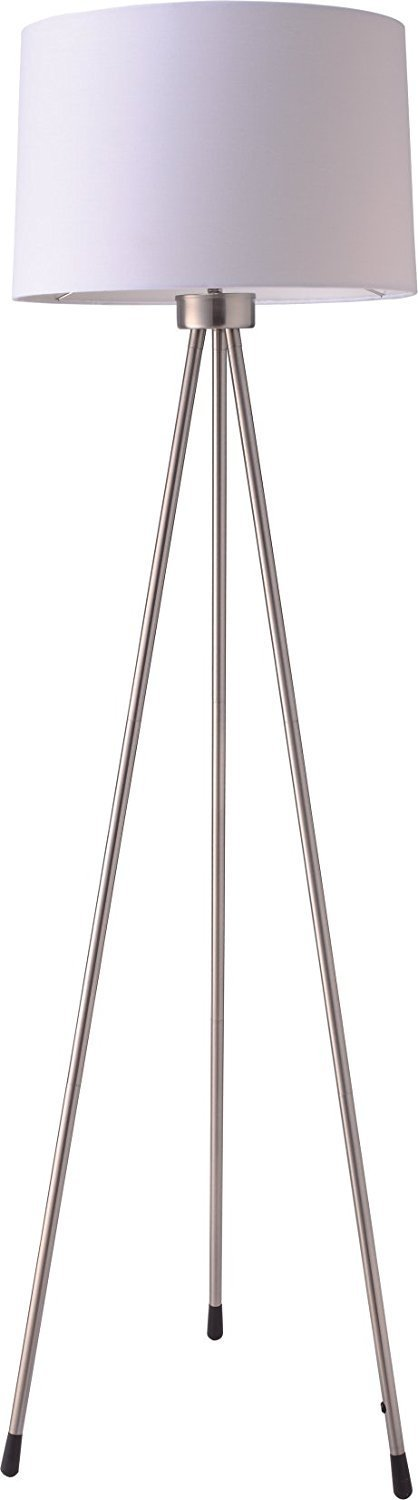 SH Lighting 8.12045E+11 31181WH Tripod Floor Lamp, Large, White